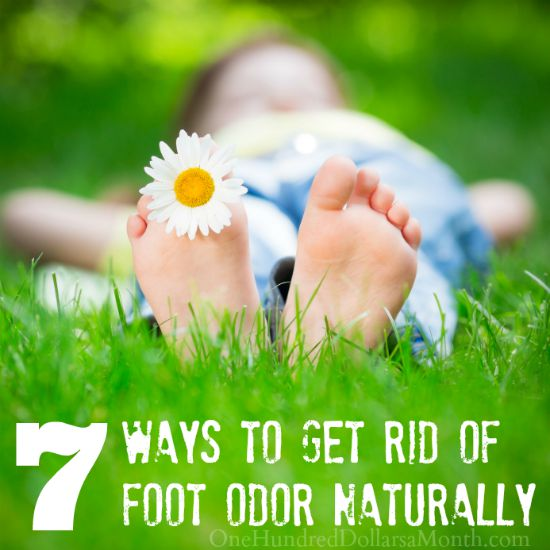 how to get rid of foot odor naturally