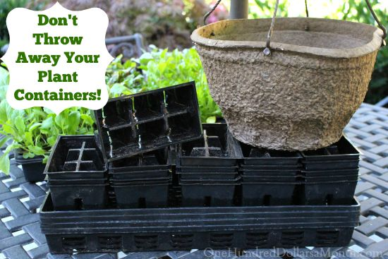 re using plastic plant containers
