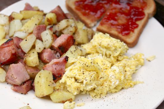 ham and potato scramble