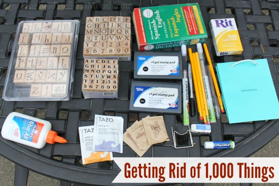 Getting Rid of 1,000 Things
