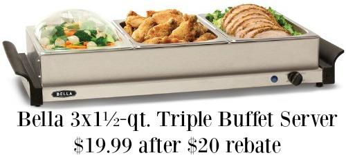 Bella Triple Buffet Server