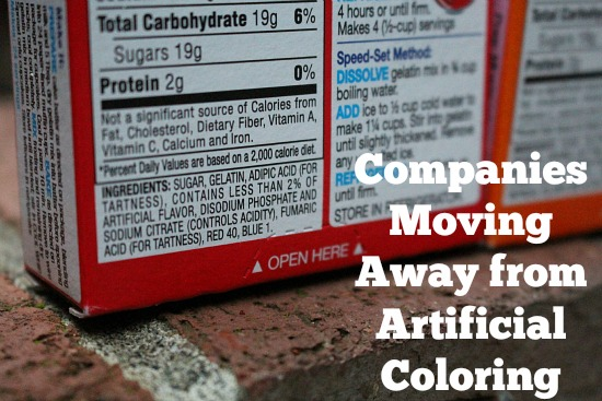 Companies Moving Away from Artificial Coloring