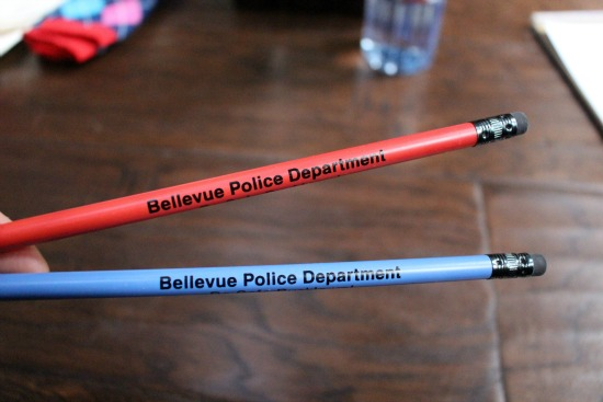 bellevue police department pencils
