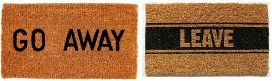go away door mat