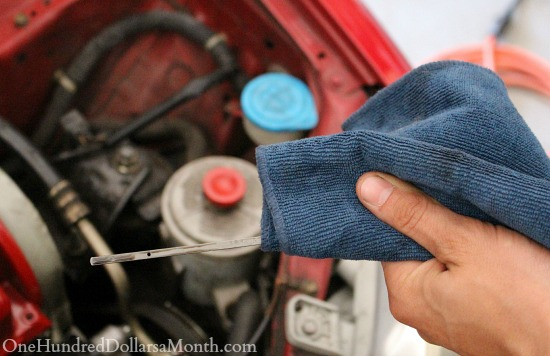 changing the oil in your car