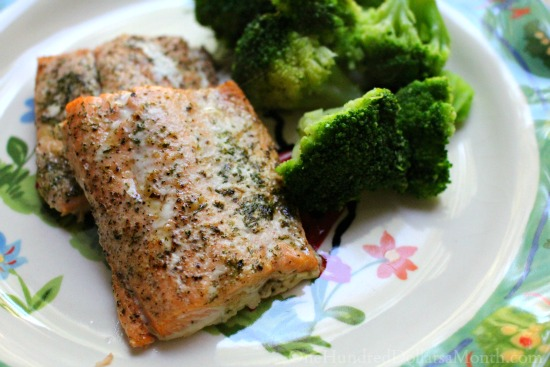 salmon with butter lemon an ddill