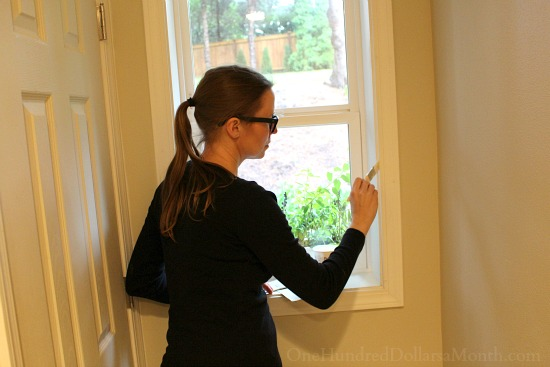 painting bathroom window