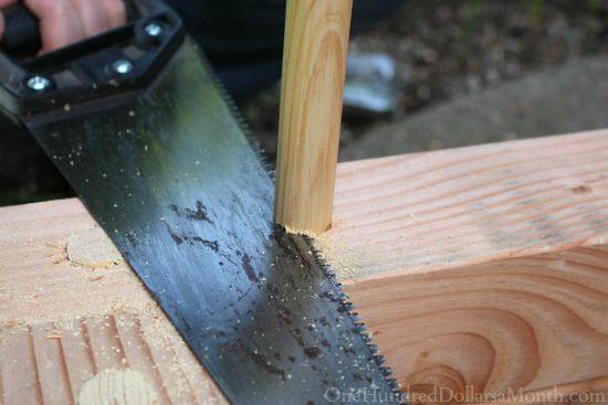 cutting dowel