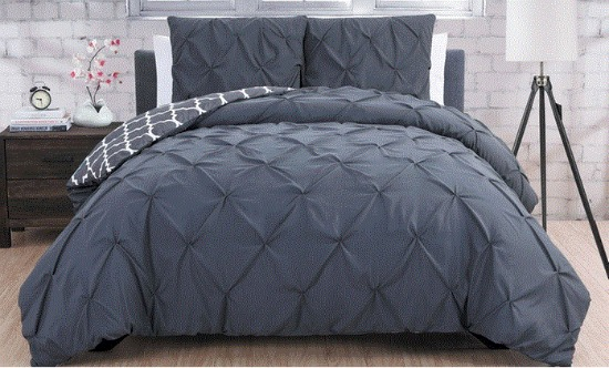 pinch pleat duvet set