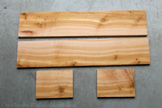 cut boards fro cedar window box