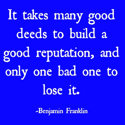 quotes - it takes many good deeds