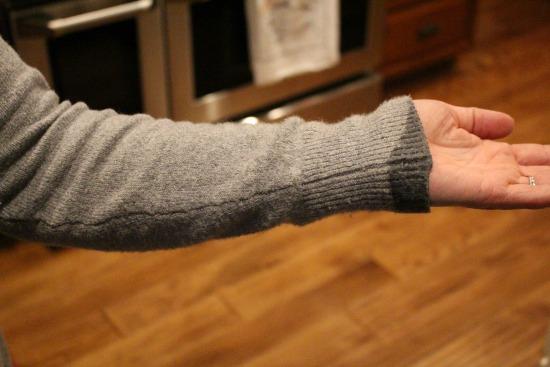 wax on sweater