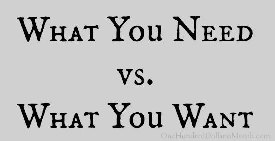 needs vs want