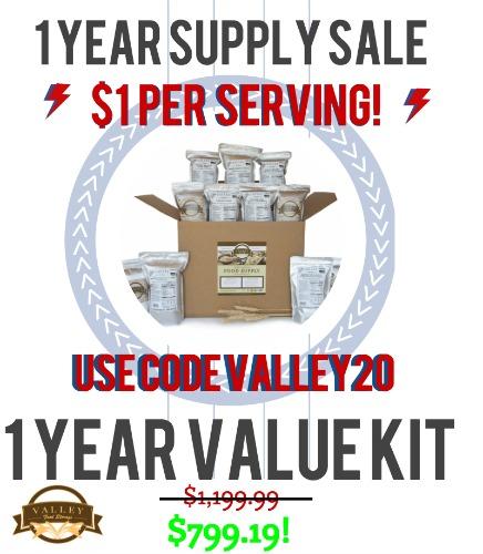 1 year supply sale