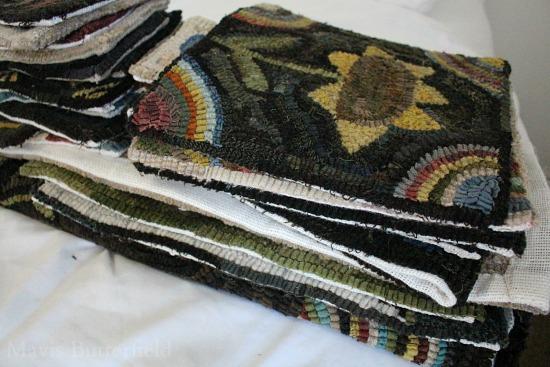 primitive rug hooking hooked