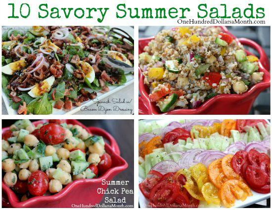 Summer Salad Recipe Roundup 10 Savory Salad Recipes