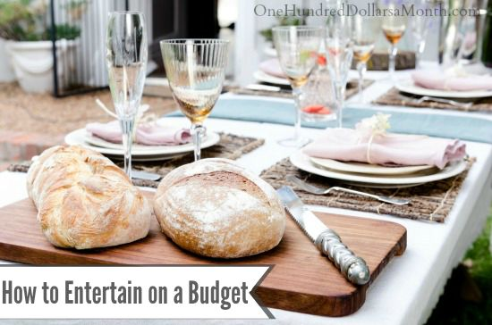 how to entertain on a budget