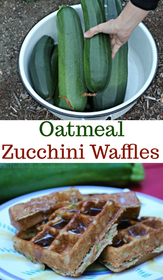 Zucchini Oatmeal Waffles - The Best Waffle on the Planet ...