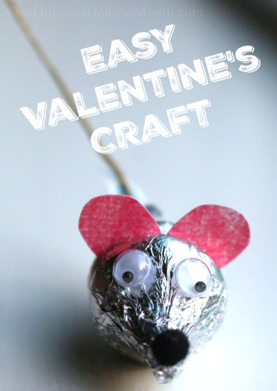 Easy Valentine S Craft Hershey S Kiss Mice One Hundred Dollars A