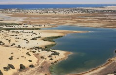 View of a lake southwest of Fayoum