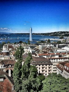 View of the Jet D'Eau from the Cathedral