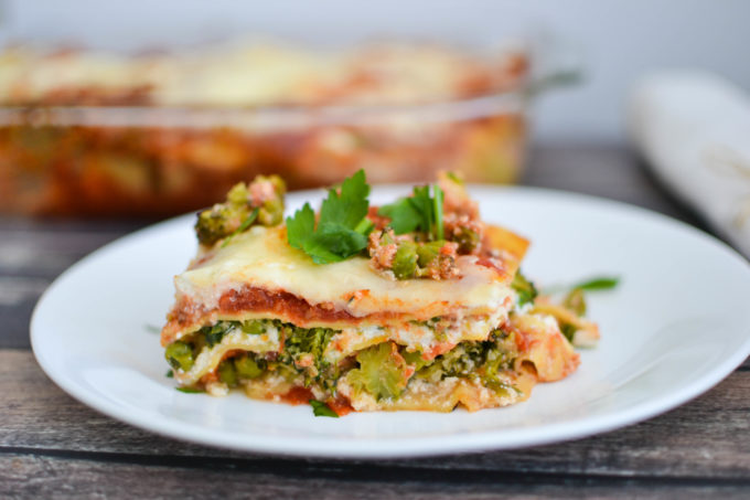 Healthy Spring Vegetable Lasagna