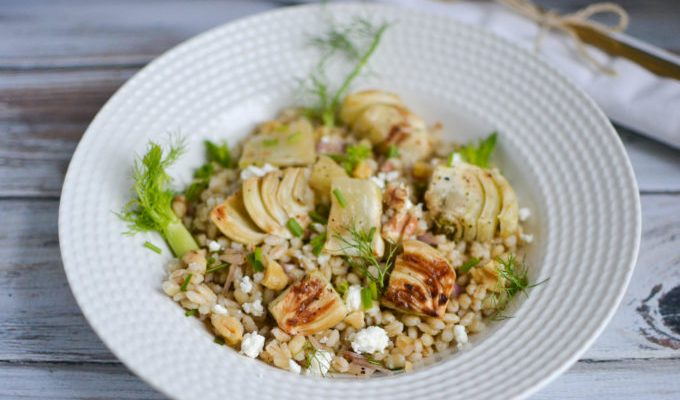 Roasted Fennel and Citrus Barley Salad