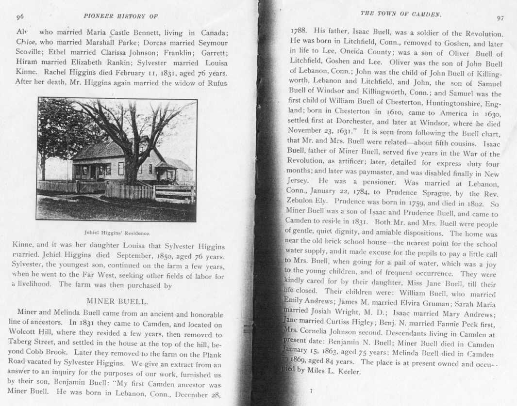 Pioneer History of Camden, N.Y.
