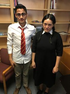 Omar as Harry Potter and Mai as Wednesday Addams