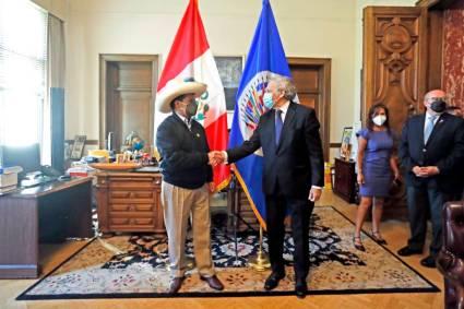 Presidente Castillo sostuvo encuentro con el secretario general de la OEA