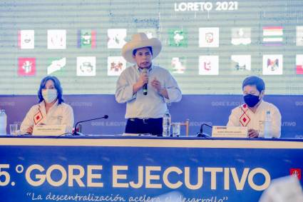 Presidente Castillo: este es el gobierno de las provincias y las regiones del Perú