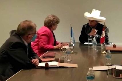 Presidente pedro castillo se reunió con secretaria de la CEPAL para estrechar lazos de cooperación