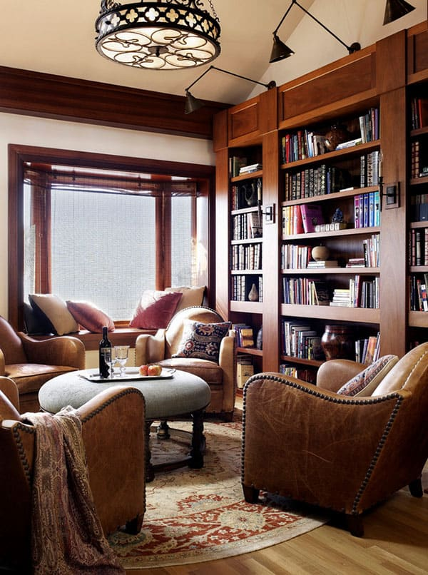 50 Jawdropping Home Library Design Ideas