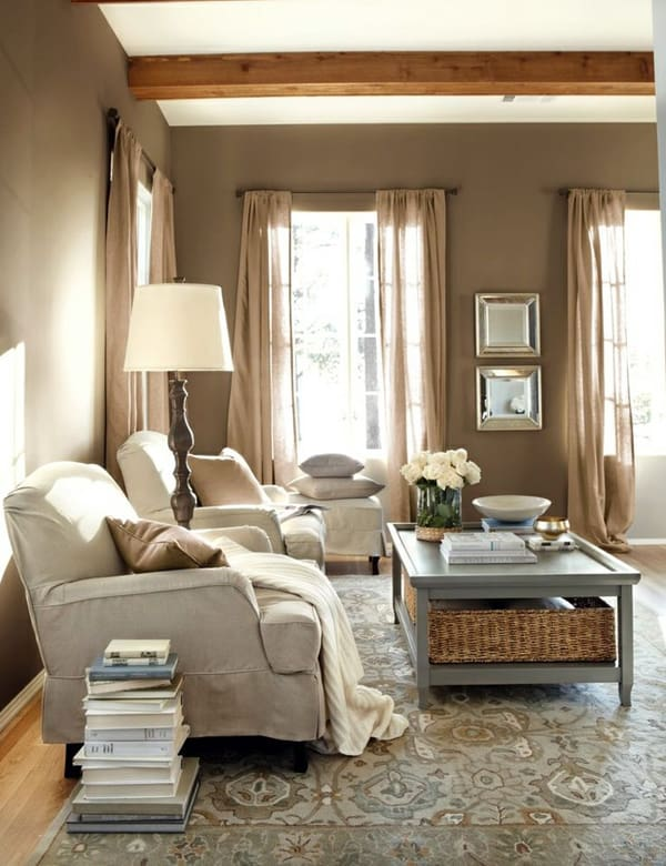 Explore our favorite colorful living rooms now! 43 Cozy and warm color schemes for your living room