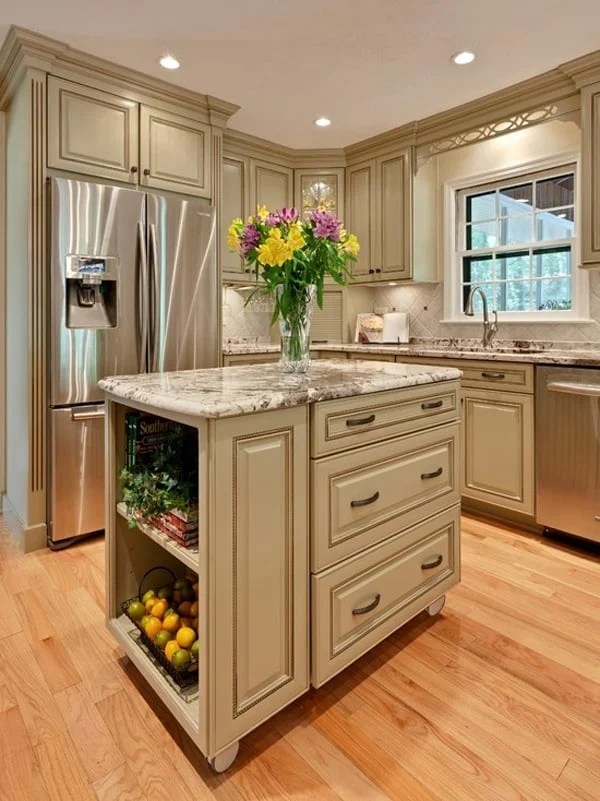 48 Amazing Spacesaving Small Kitchen Island Designs