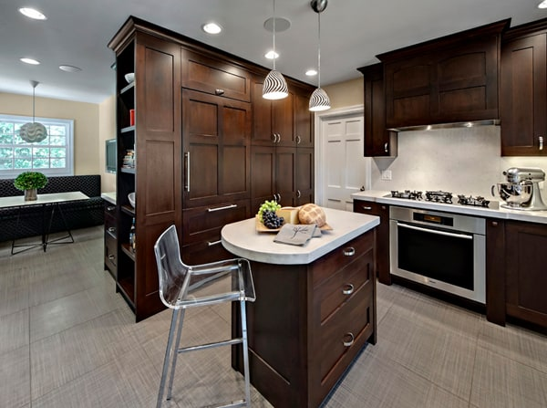 small kitchen with island design ideas 48 Amazing space-saving small kitchen island designs