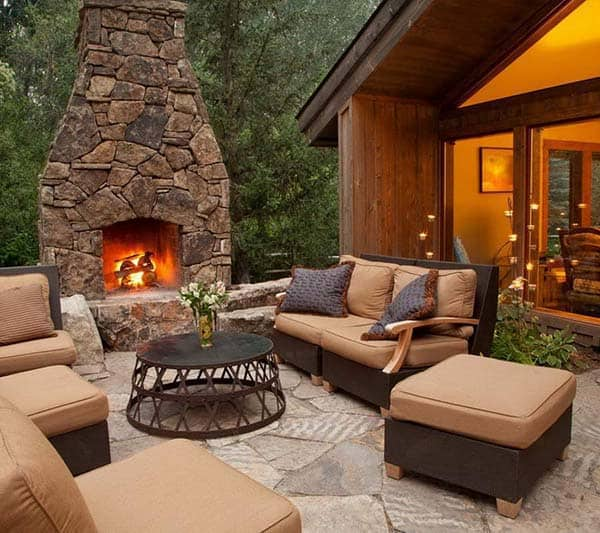 53 Most amazing outdoor fireplace designs ever on Amazing Outdoor Fireplaces id=96757