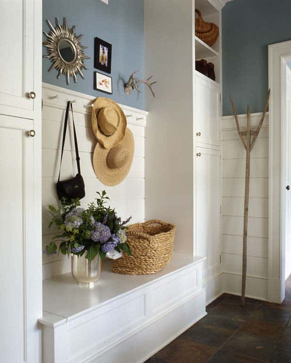 60 Unbelievable Under Stairs Storage Space Solutions: 55 Absolutely Fabulous Mudroom Entry Design Ideas