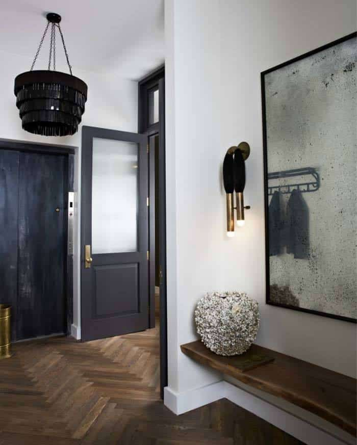 Loft Entryway Ideas: Industrial-chic Loft In NoHo Features Glammed Up Interiors