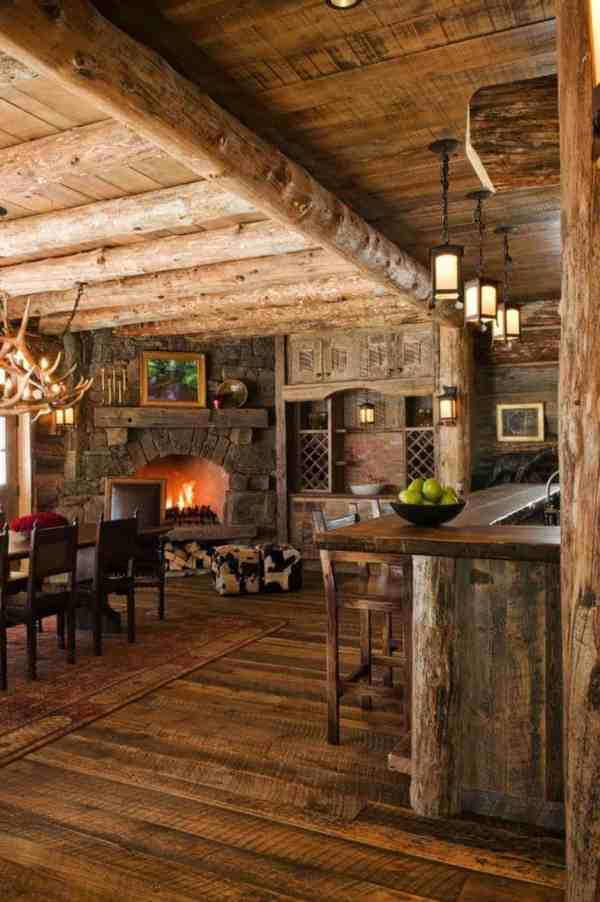 Rustic Mountain Cabin Interiors