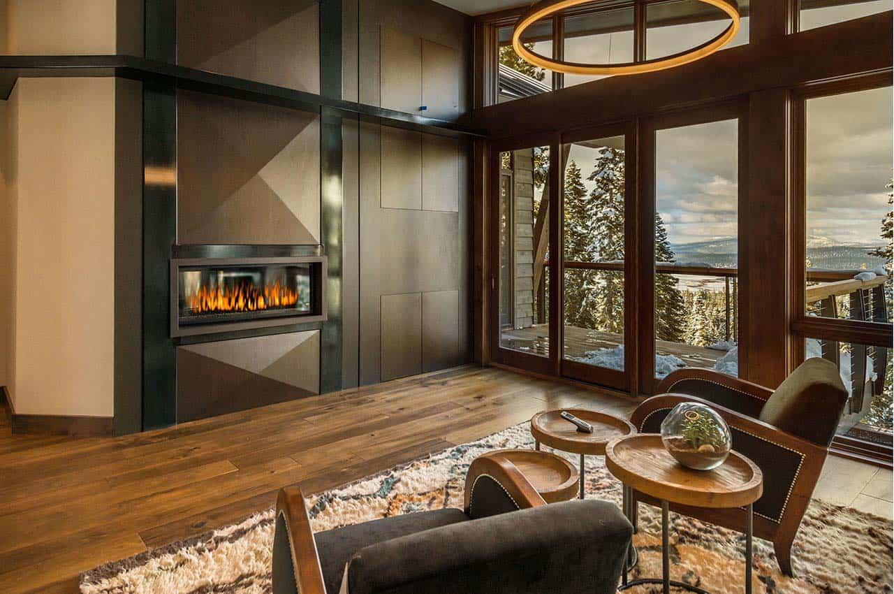 Mountain modern ski retreat with breathtaking views in ...