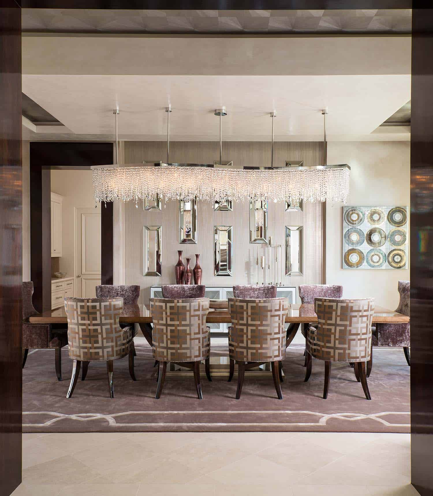 Luxurious Modern Home With Striking Entertaining Spaces In Texas  Contemporary Style Home Dallas Design Group 09