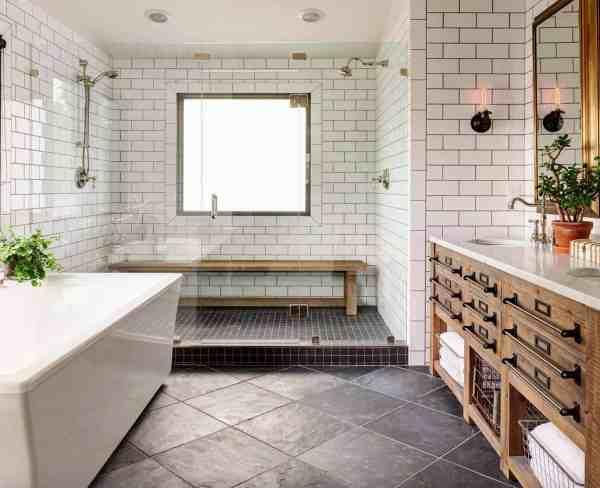 Farmhouse Bathroom Tile Ideas
