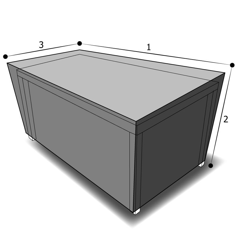 Housse de table rectangulaire
