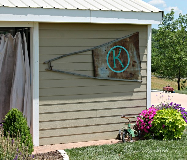Monogrammed Windmill vane {Onekriegerchick.com}