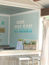 Watercolor Outdoor Sign {Poolhouse decor} - onekriegerchick