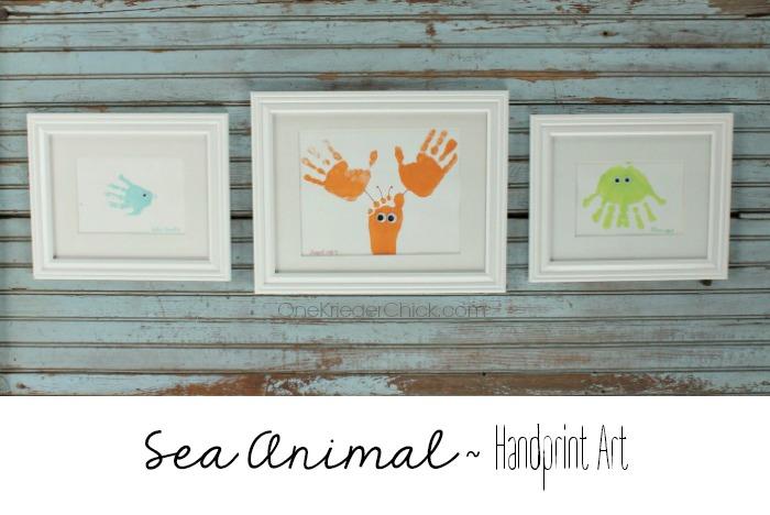 Sea-Animal-framed-handprint-art (OneKriegerChick.com)