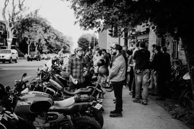 #TheMotoSocialMtl X Oneland by Viktor Radics. Café Jeanne d'Arc, 5866 av. De Lorimier, Montréal. 29 juin 2016