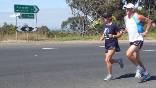 Lachie White came along for a morning run east of Melbourne.