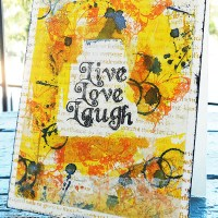 Paper craft project no. 143: Live, Love, Laugh [with video tutorial]